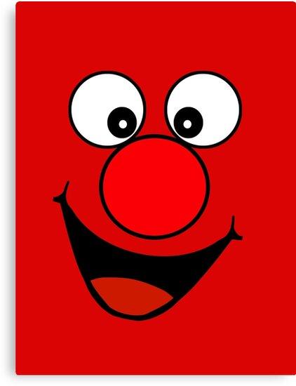 Funny Cartoon Face Clock by deanworld