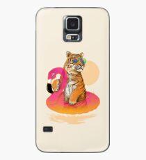 Chillin, Flamingo-Tiger Hülle & Klebefolie für Samsung Galaxy