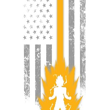 Saiyan lover with American flag T - shirt by Kathrinew