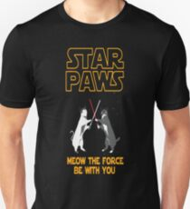 Star Wars cat version - Meow the force be with you T-Shirt