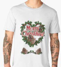 Heart Shaped Wreath   Men's Premium T-Shirt