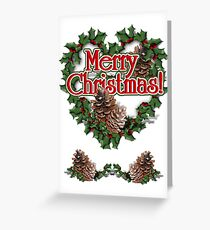 Heart Shaped Wreath   Greeting Card