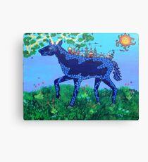 Blu Deer Village Canvas Print