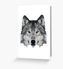 Crystalline Wolf Greeting Card