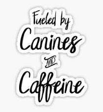 Canines and Caffeine Sticker