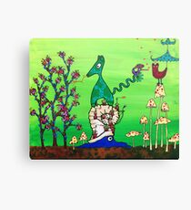 Finding Food & Love on Higher Ground Canvas Print