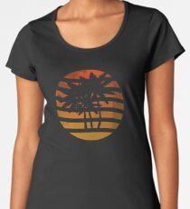 Palm Trees Grunge Sunset Women's Premium T-Shirt