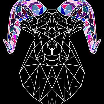 Geometric Rainbow Ram by dzdn