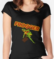 Frogger Cabinet Art Women's Fitted Scoop T-Shirt