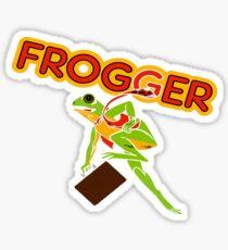 Frogger Cabinet Art Sticker