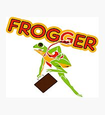 Frogger Cabinet Art Photographic Print