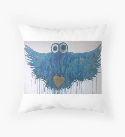 Flying Owl Throw Pillow