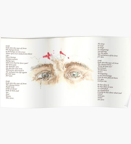 Jesus Eyes Poster