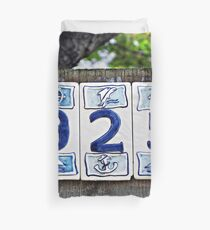 Nautical Numbers Duvet Cover