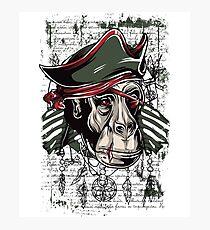 Patriot Pirate Zombie Scary Ape Monkey Gorilla Surreal Design Photographic Print