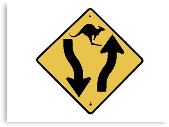 Kangaroo Sign - Urban Grunge by Denis Marsili