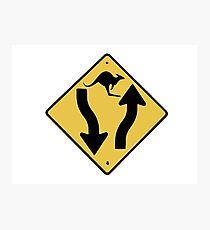 Kangaroo Sign - Urban Grunge Photographic Print