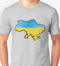 Ukraine Flag Map T-Shirt