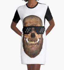 Geek Bearded Skull mens-tees Graphic T-Shirt Dress