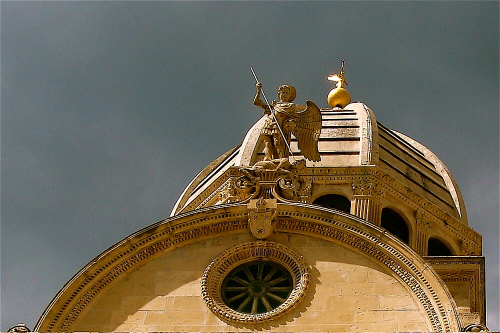 watching it .... / detail from Cathedral in Sibenik /Croatia / by anisja