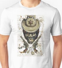 Hat Wearing Gun Slinging Sheriff Gorilla Trendy Street Wear Design T-Shirt