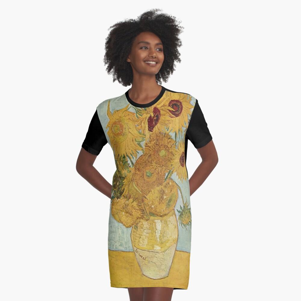 Vincent van Gogh's Sunflowers Graphic T-Shirt Dress
