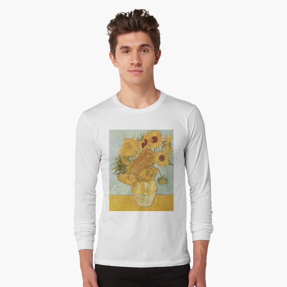 Vincent van Goghs Sonnenblumen Langarmshirt