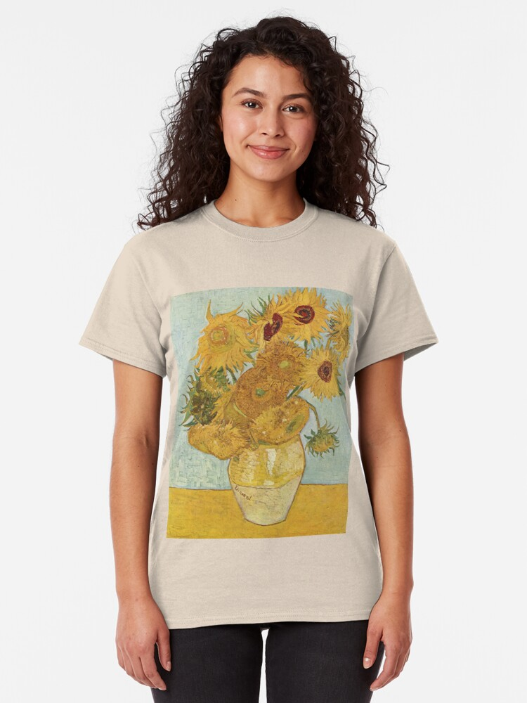 Alternate view of Vincent van Gogh's Sunflowers Classic T-Shirt