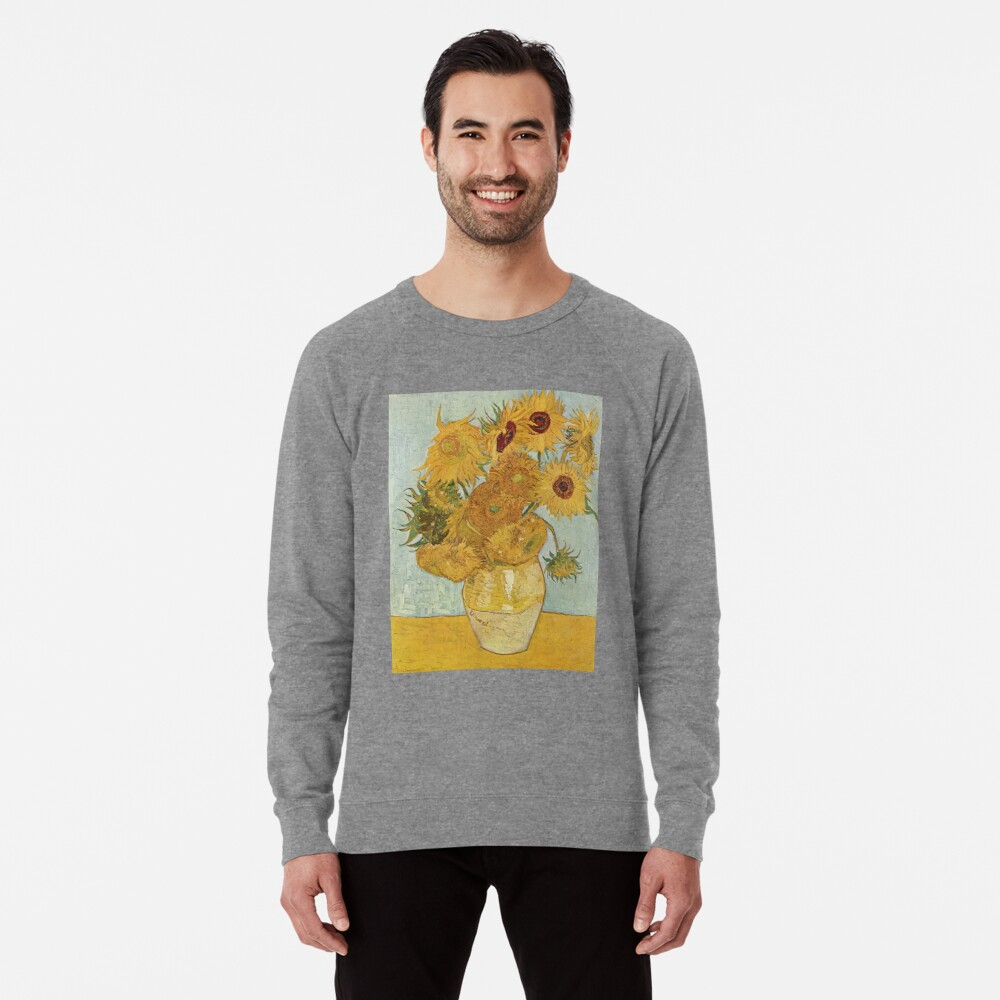 Vincent van Goghs Sonnenblumen Leichter Pullover