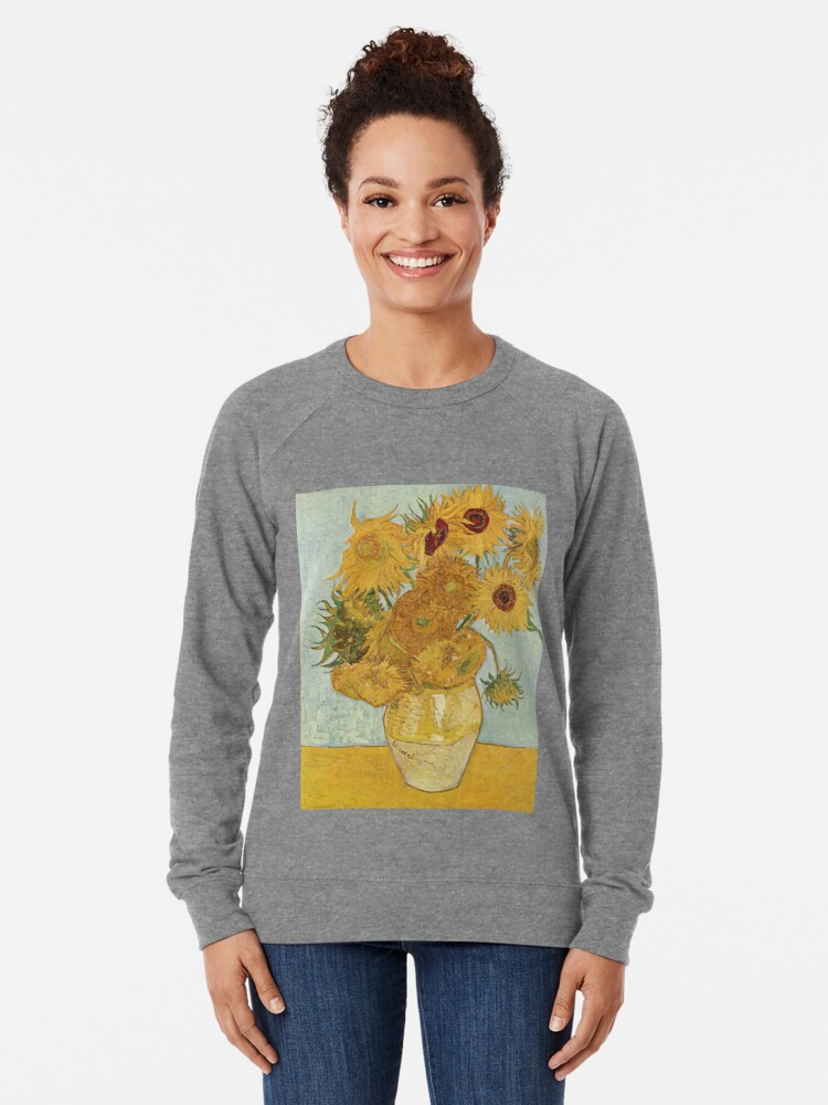 Alternate view of Vincent van Gogh's Sunflowers Lightweight Sweatshirt
