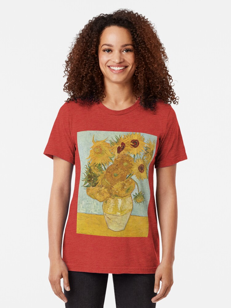 Alternate view of Vincent van Gogh's Sunflowers Tri-blend T-Shirt