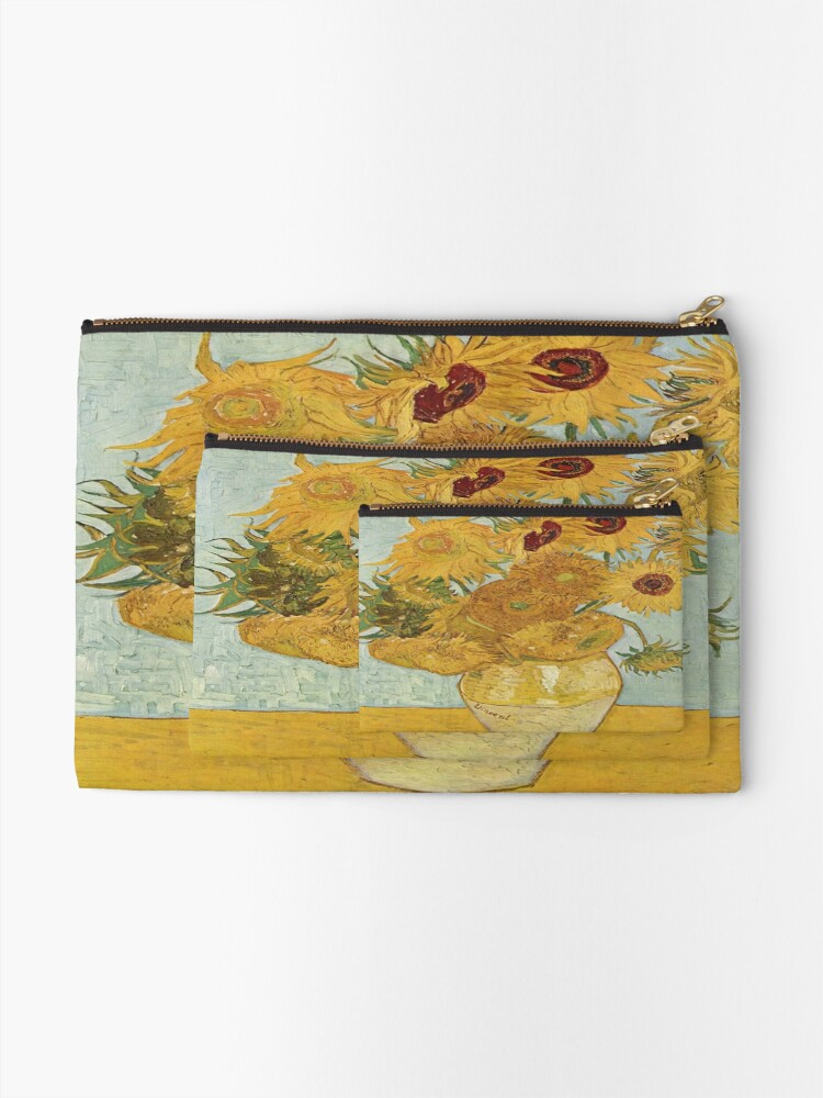 Alternate view of Vincent van Gogh's Sunflowers Zipper Pouch