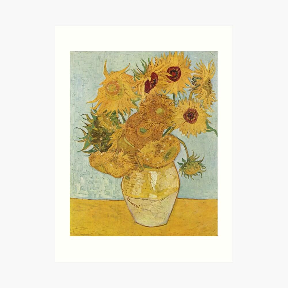 Vincent van Gogh's Sunflowers Art Print