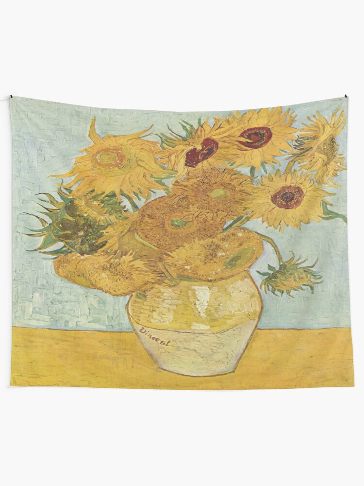 Tapestry Wall Hanging Blanket Tapestry Home Décor Vincent van Gogh Sunflowers TW