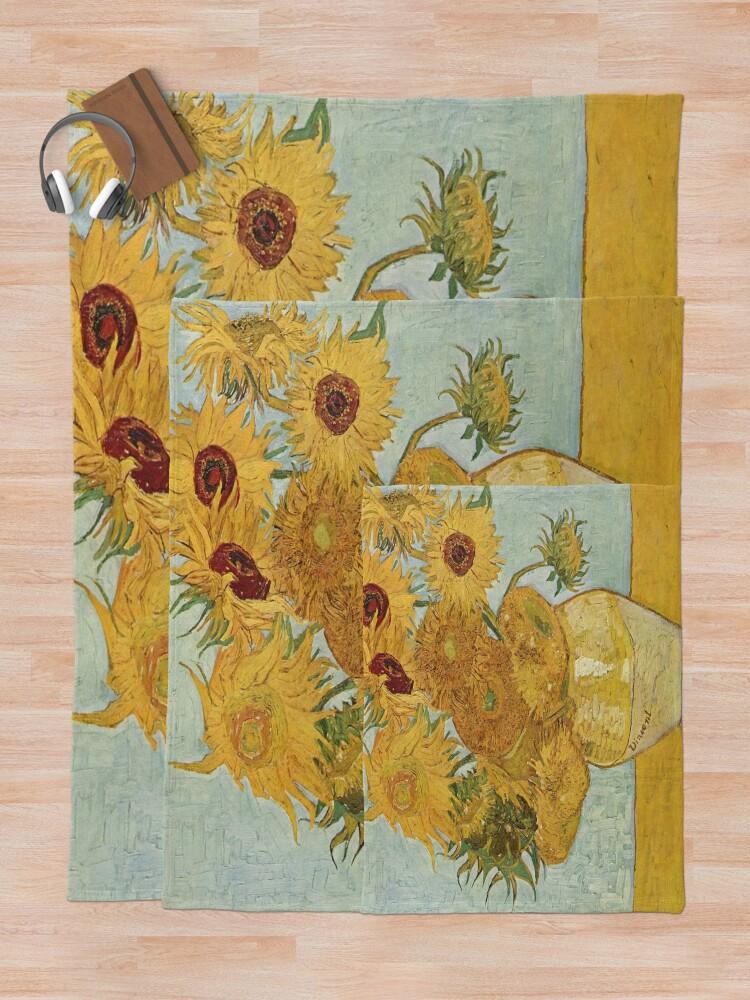 Alternate view of Vincent van Gogh's Sunflowers Throw Blanket