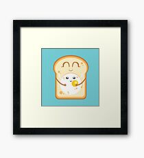 Hug the Egg Framed Print