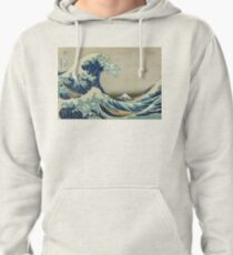 Vintage poster - The Great Wave Off Kanagawa Pullover Hoodie