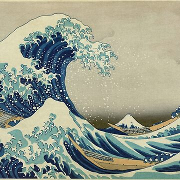 Vintage poster - The Great Wave Off Kanagawa by mosfunky