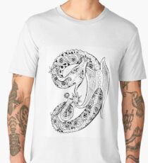 Paisley Dragon Men's Premium T-Shirt