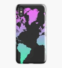 World map color gradient iPhone Case