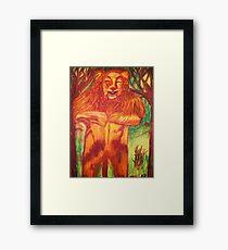 WIZARD OF OZ COWARDLY LION Framed Print