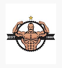 Weightlifting Muscle Man Bodybuilding Gym Workout Active Design Photographic Print