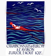 1923 European Rowing Championship Poster