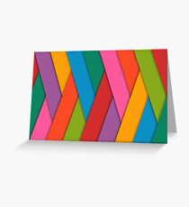 Ribbon Rainbow Colorful Pattern Greeting Card