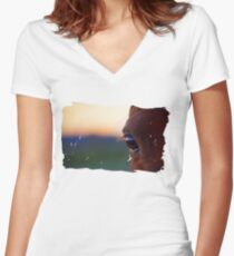 An Eye On The Horizon Women's Fitted V-Neck T-Shirt