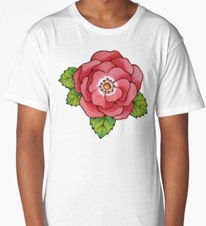 Alpen Rose Design Long T-Shirt
