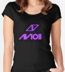 Avicii Neon Women's Fitted Scoop T-Shirt