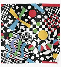 Ticker Tape Geometric Design Poster
