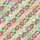 Mandala and Rose Stripe by PatriciaSheaArt