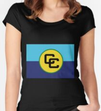 Caribbean Community Women's Fitted Scoop T-Shirt